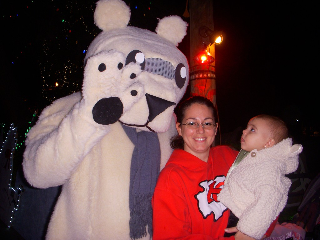 zoo lights with christina and quinn