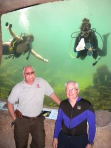 Adam, Yvvone, Harry and Del volunteering at the Biosphere II