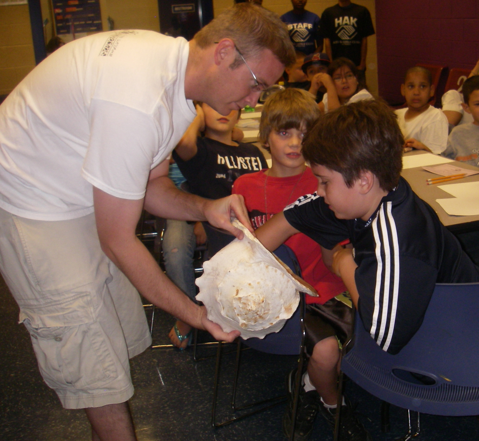 mike schrantz with shell and kid 2.JPG