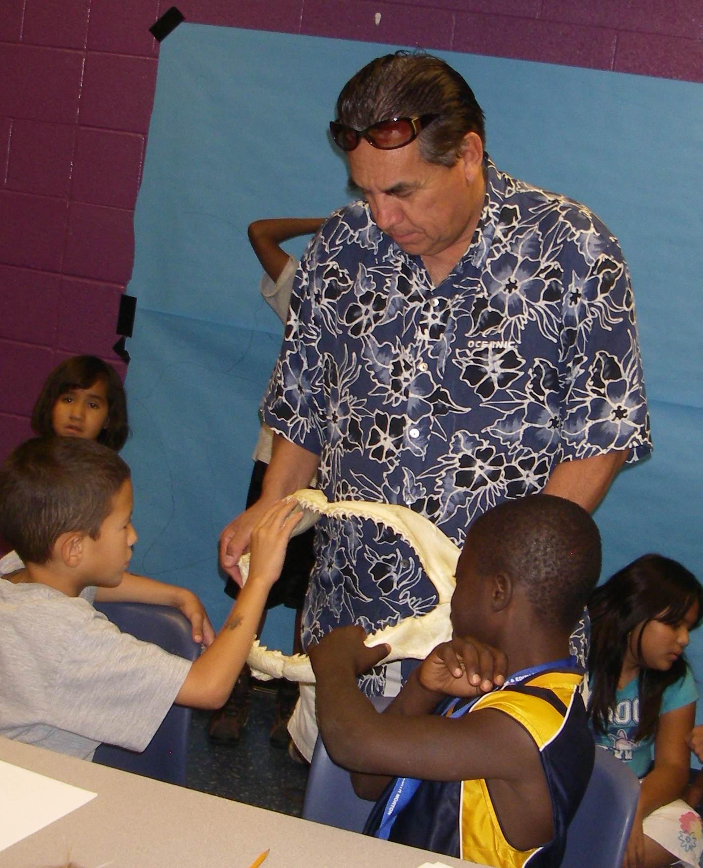 volunteer Manny with jaw and kids.JPG